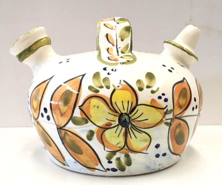 Spanish Colonial 20th Century Spanish Glazed Cruche or Pitcher For Sale