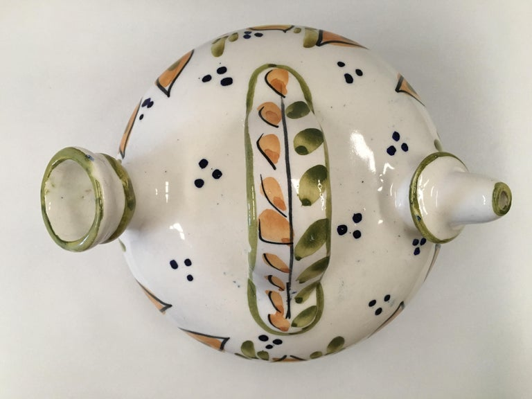 20th Century Spanish Glazed Cruche or Pitcher In Excellent Condition For Sale In Miami, FL