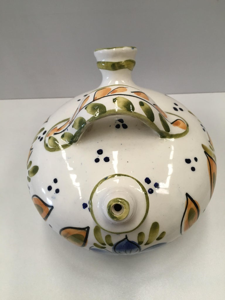 Pottery 20th Century Spanish Glazed Cruche or Pitcher For Sale