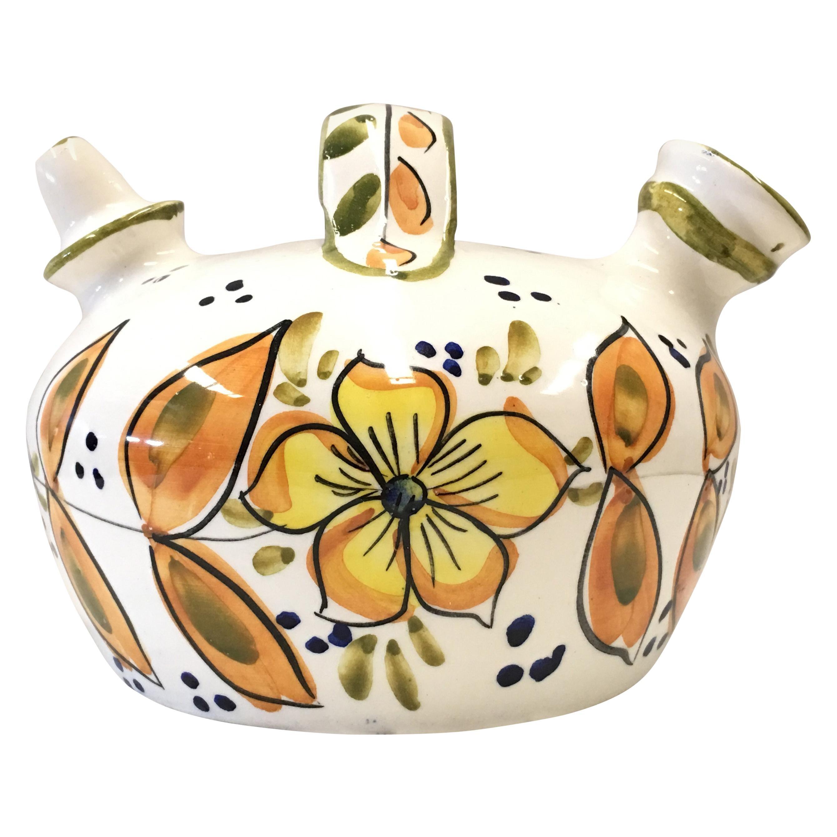 20th Century Spanish Glazed Cruche or Pitcher