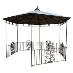 Large 20th Century  hexagonal Spanish Iron Pergola