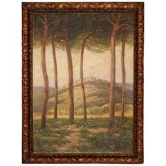 20th Century Spanish Signed Landscape Painting