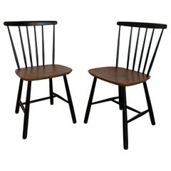20th Century Spindle Wood Ilmar Tapiovaara Style Classic Chairs, 1960s
