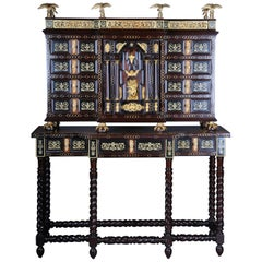 20th Century Splendid Renaissance Tower Cabinet/Commode