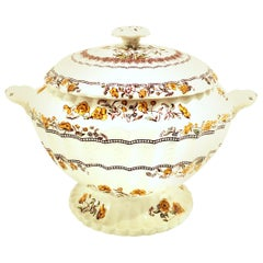 "20th Century Spode England Large ""Buttercup"" Lidded Soup Tureen"