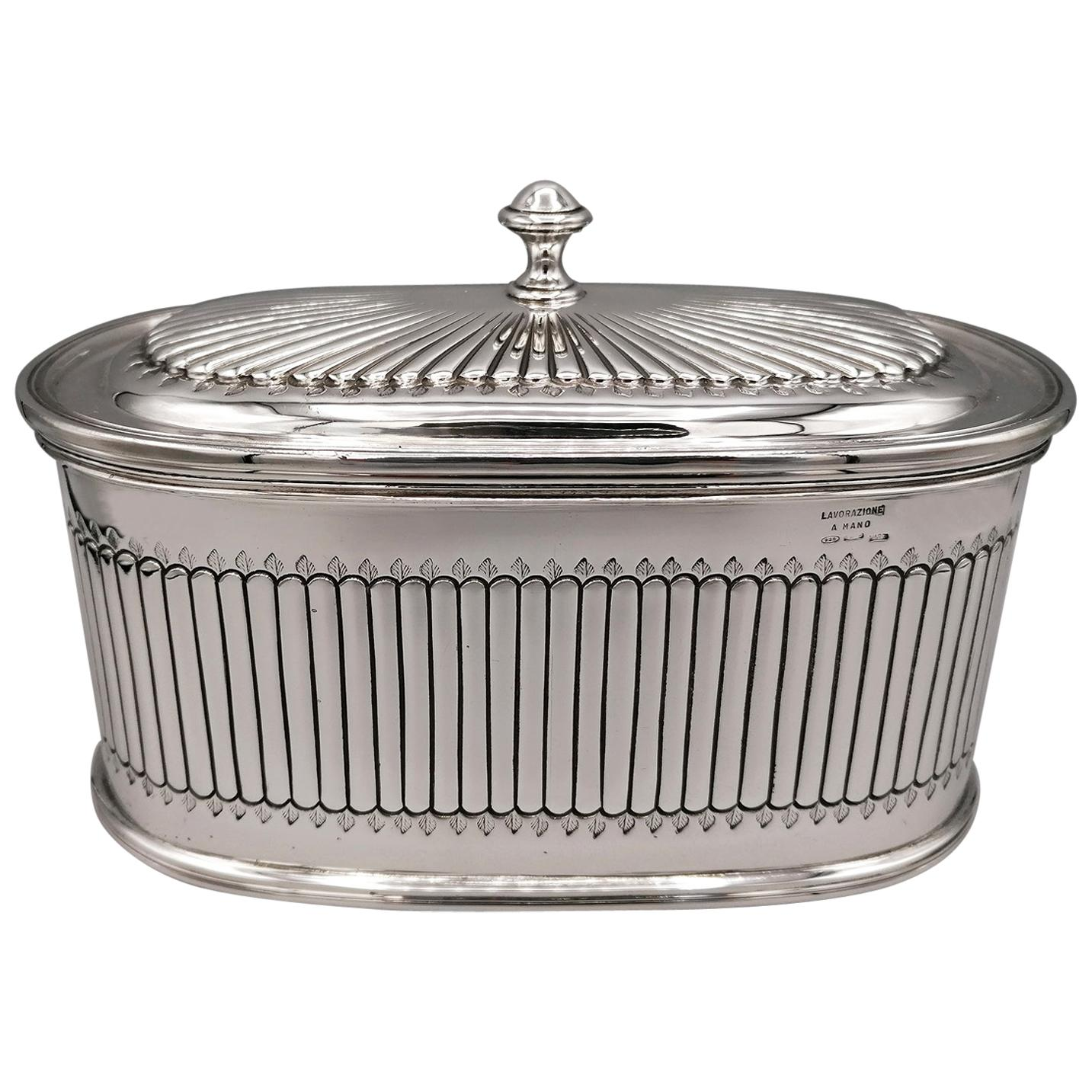 20th Century Sterling Silver Box George III° Style