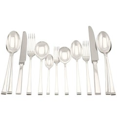20th Century Sterling Silver Canteen of Cutlery for Eight Persons - 1956