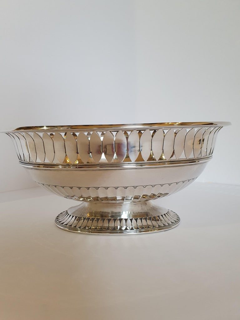 Italian 20th Century Sterling Silver Empire Style Centerpiece, Italy, 1990 For Sale