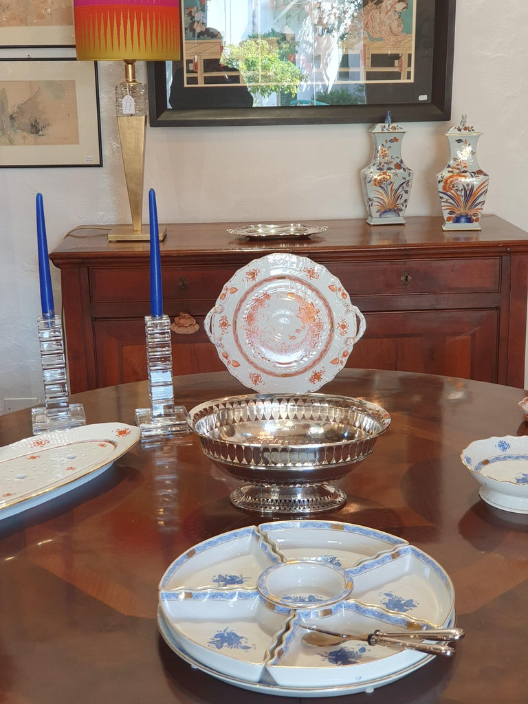 Hand-Crafted 20th Century Sterling Silver Empire Style Centerpiece, Italy, 1990 For Sale