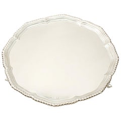 20th Century Sterling Silver Salver by Emile Viner Vintage, 1964