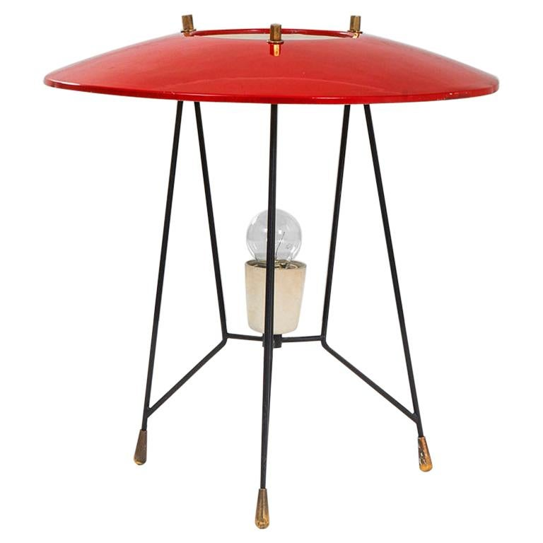 20th Century Stilnovo Table Lamp in Lacquered Metal and Brass '50s