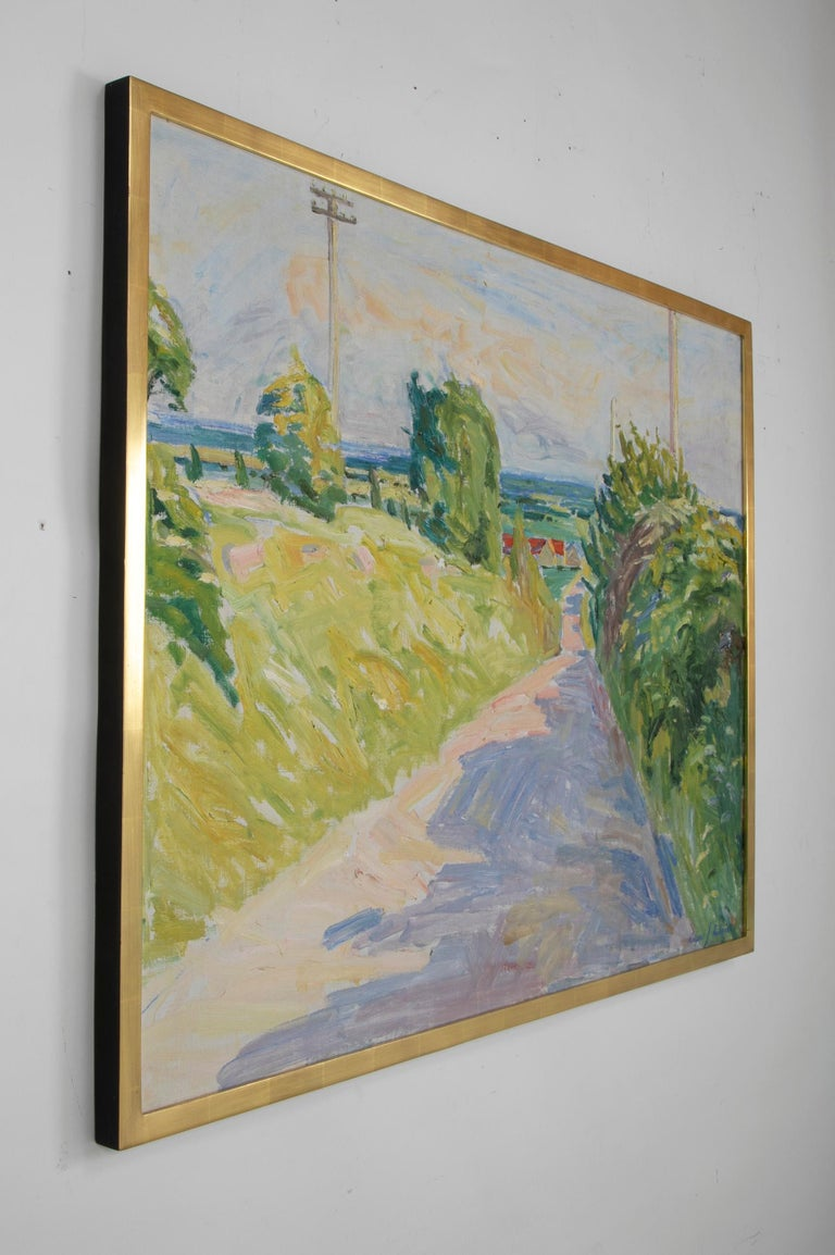 20th Century Summer Landscape by Danish Artist Mogens Anderson For Sale 6