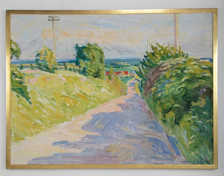 20th Century Summer Landscape by Danish Artist Mogens Anderson In Good Condition For Sale In Stamford, CT