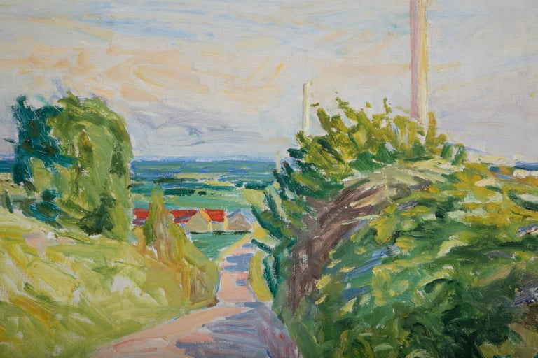 20th Century Summer Landscape by Danish Artist Mogens Anderson For Sale 1