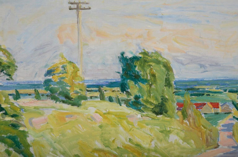 20th Century Summer Landscape by Danish Artist Mogens Anderson For Sale 2