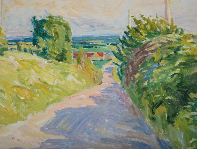 20th Century Summer Landscape by Danish Artist Mogens Anderson For Sale 3