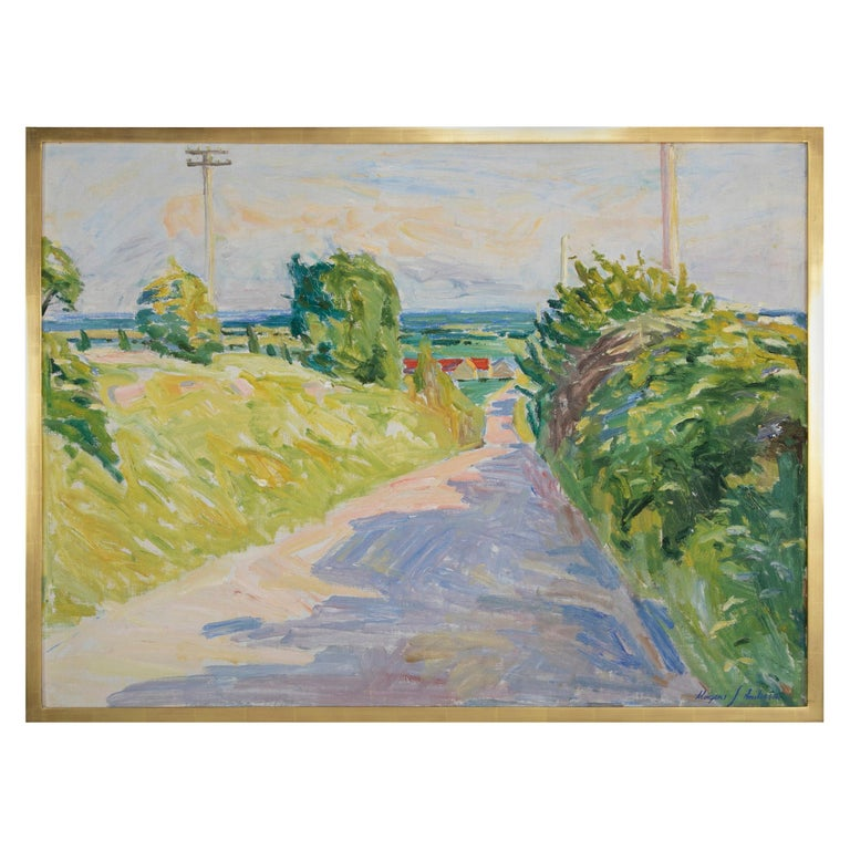 20th Century Summer Landscape by Danish Artist Mogens Anderson For Sale