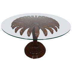 20th Century Sunflower Wooden Rotary Table