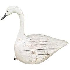 20th Century Swan Decoy, Signed F&S