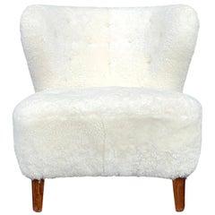 20th Century Swedish Beechwood Lounge Chair by Gösta Jonsson