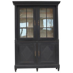 20th Century Swedish Gustavian Style Glass Cabinet