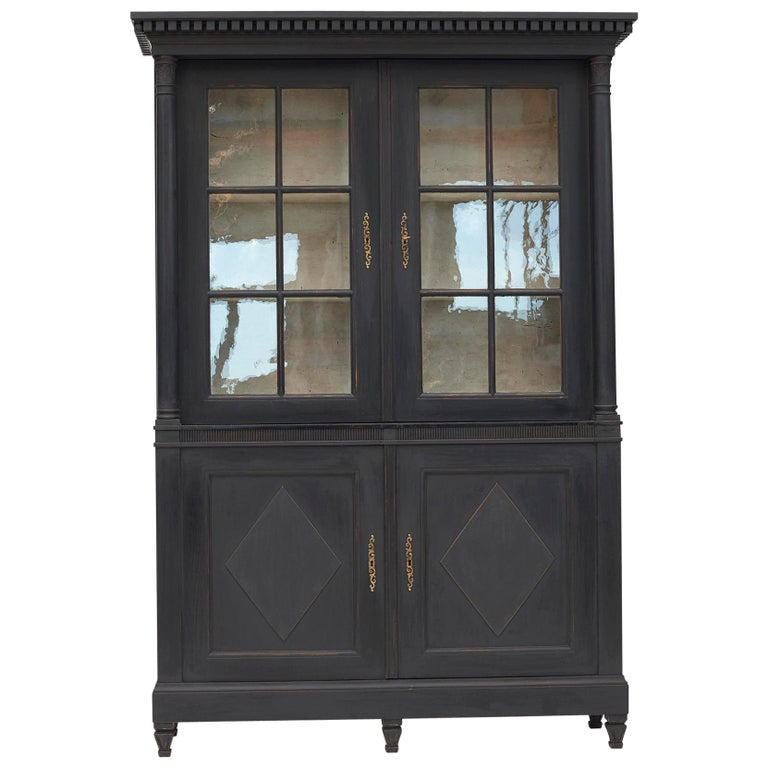 20th Century Swedish Gustavian Style Glass Cabinet For Sale