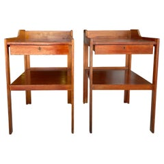 20th Century Swedish Mahogany Nightstands, Bedside Tables by Carl-Axel Acking