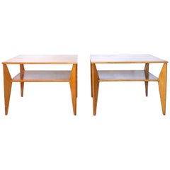 20th Century Swedish Pair of Two Tiers, Side Tables