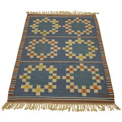 20th Century Swedish Röllakan Flat-Weave Carpet