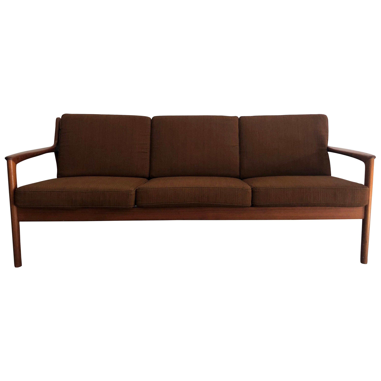 20th Century Swedish Three-Seat Teakwood Sofa by Folke Ohlsson