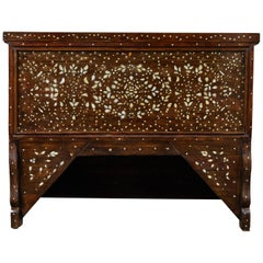 20th Century  Syrian Mother of Pearl Inlaid Wedding Chest