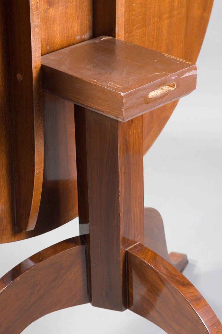 Mahogany 20th Century Table in the Biedermeier Style  For Sale