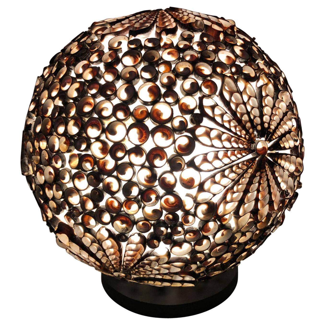 20th Century Table Lamp with Shells