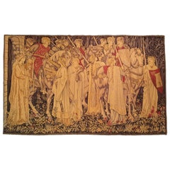 875 - 20th Century Tapestry 'the Quest For The Holy Grail'