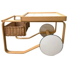 20th Century Tea Cart Trolley 900 by Alvar Aalto
