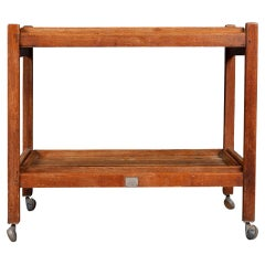 20th Century Teak Tea Trolley Made From Reclaimed Timber From RMS Arlanza c.1940
