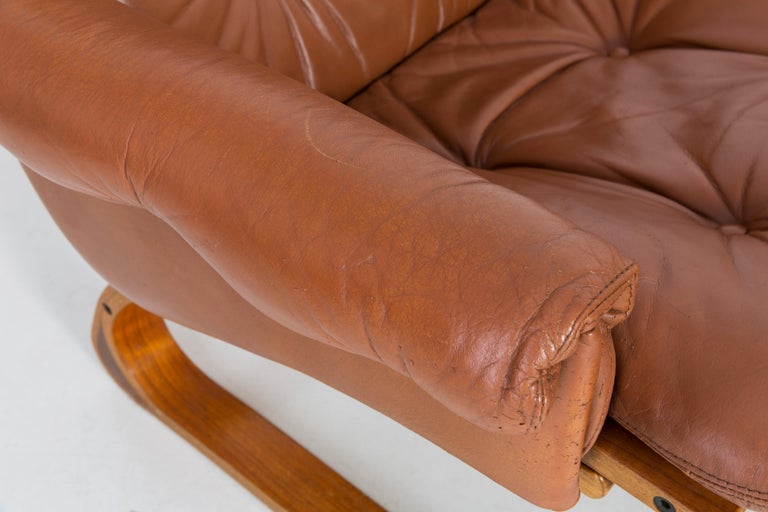 20th Century Teak Wood Kengu Sofa, Elsa & Nordahl Solheim for Rybo Rykken, 1970s For Sale 7