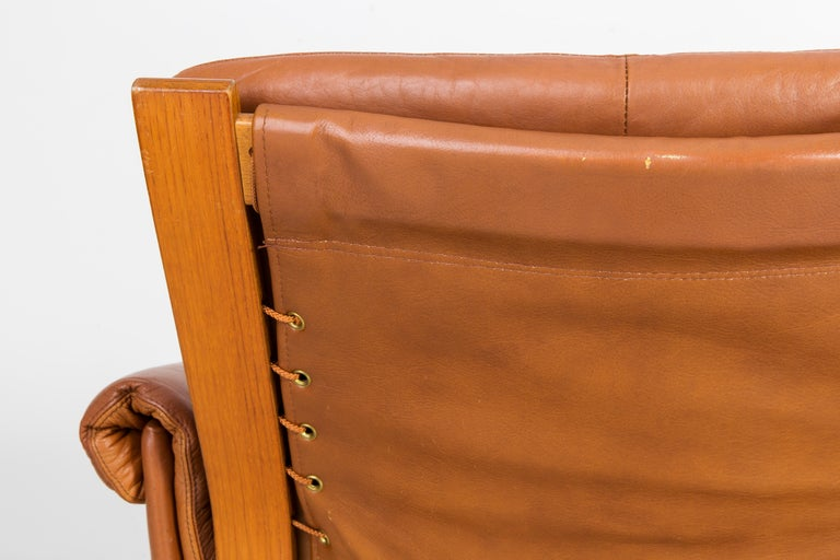 20th Century Teak Wood Kengu Sofa, Elsa & Nordahl Solheim for Rybo Rykken, 1970s For Sale 1