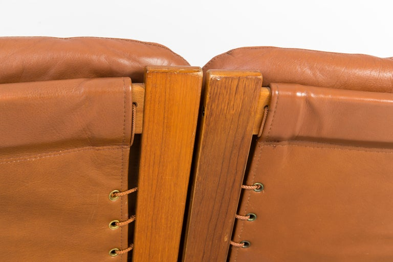 20th Century Teak Wood Kengu Sofa, Elsa & Nordahl Solheim for Rybo Rykken, 1970s For Sale 2
