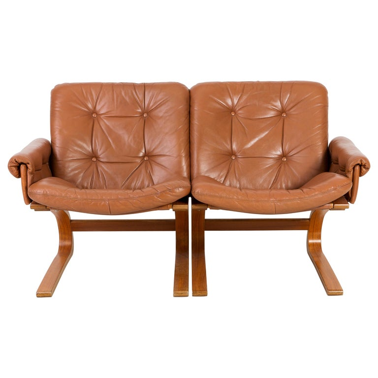 20th Century Teak Wood Kengu Sofa, Elsa & Nordahl Solheim for Rybo Rykken, 1970s For Sale