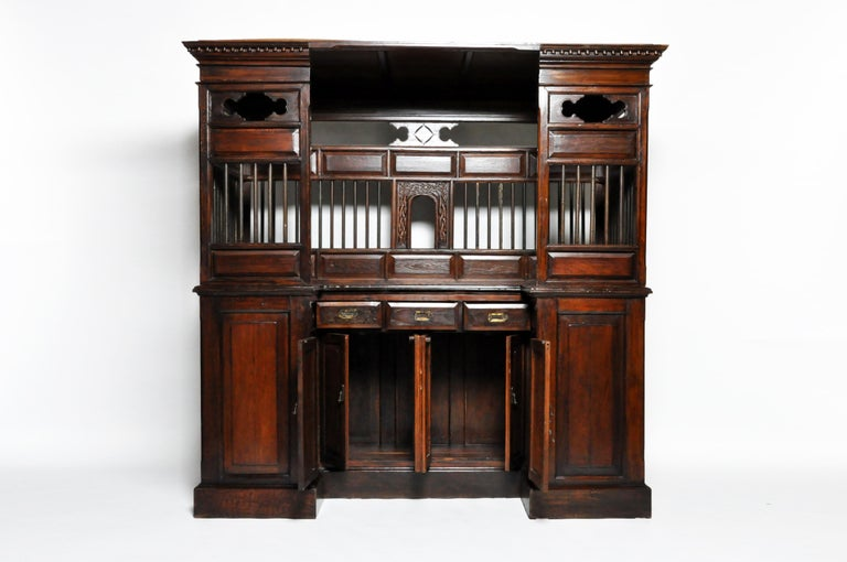 20th Century Teak Wood Ticket Booth For Sale 13
