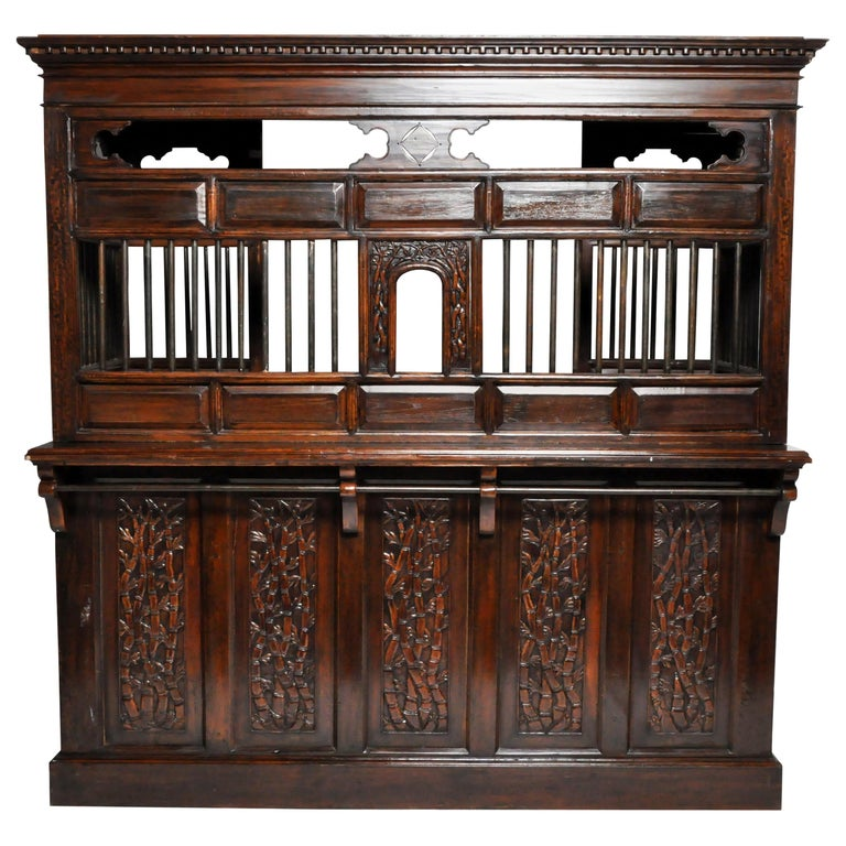 20th Century Teak Wood Ticket Booth For Sale