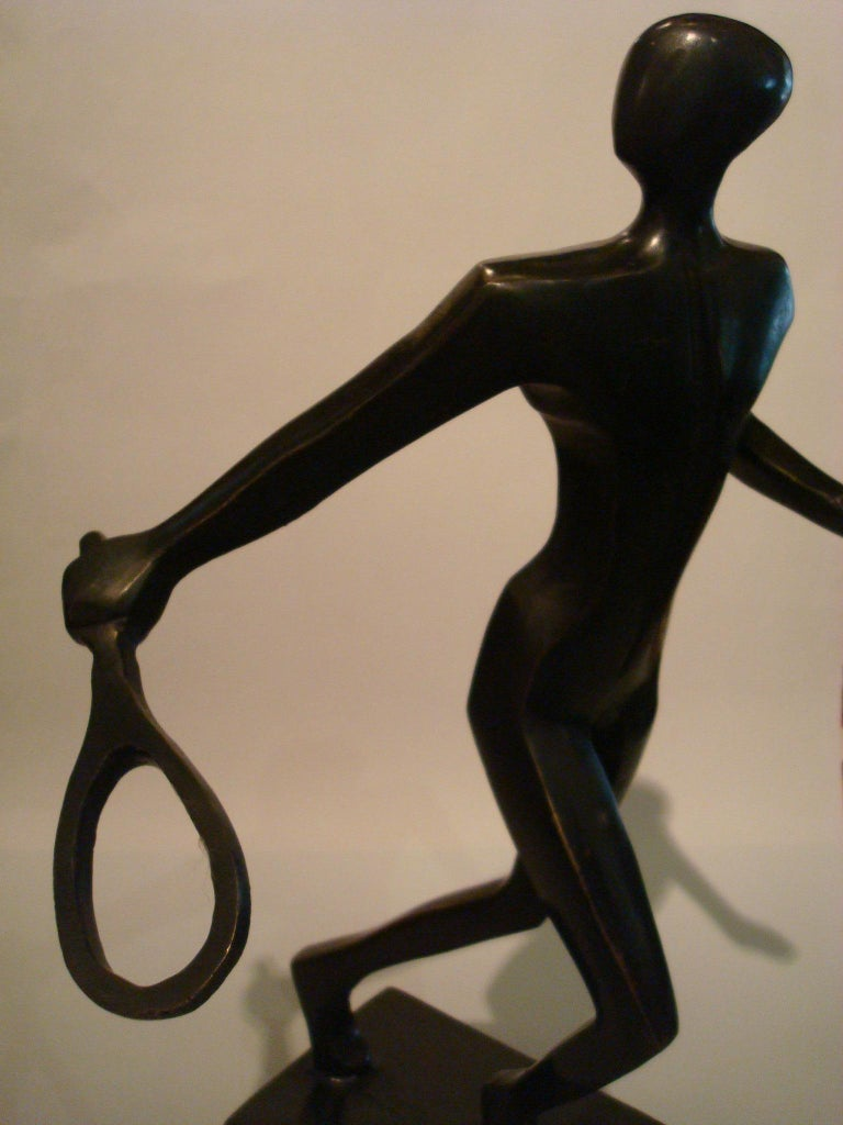 20th Century Tennis Player Bronze Sculpture / Trophy, Italy, 1930s For Sale 3