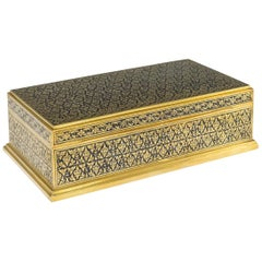 20th Century Thai Royal Silver-Gilt Niello Enamel Cigar Box, Bangkok, circa 1960