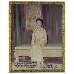 20th Century Thailand Solid Silver Gilt & Niello Photo Frames Bangkok circa 1968