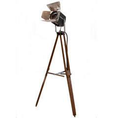 20th Century Theatrical Stage Lamp with Tripod