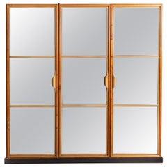 20th Century Three Door Mirror Wardrobe, La Permanente Mobili Cantu, c.1940