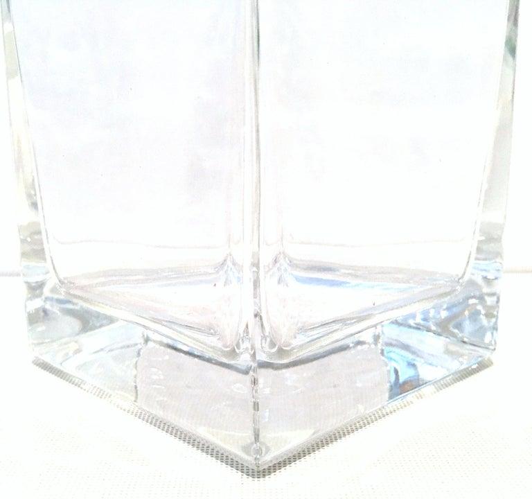 20th Century Tiffany Cut Crystal Liquor Decanter & Stem Drink Glasses, Set of 6 For Sale 6