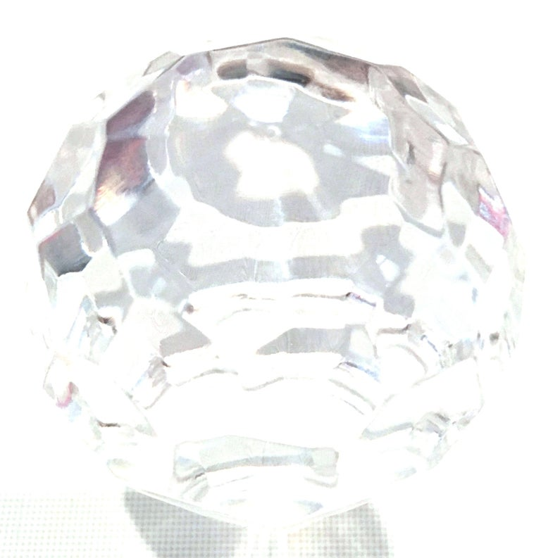 20th Century Tiffany Cut Crystal Liquor Decanter & Stem Drink Glasses, Set of 6 For Sale 7