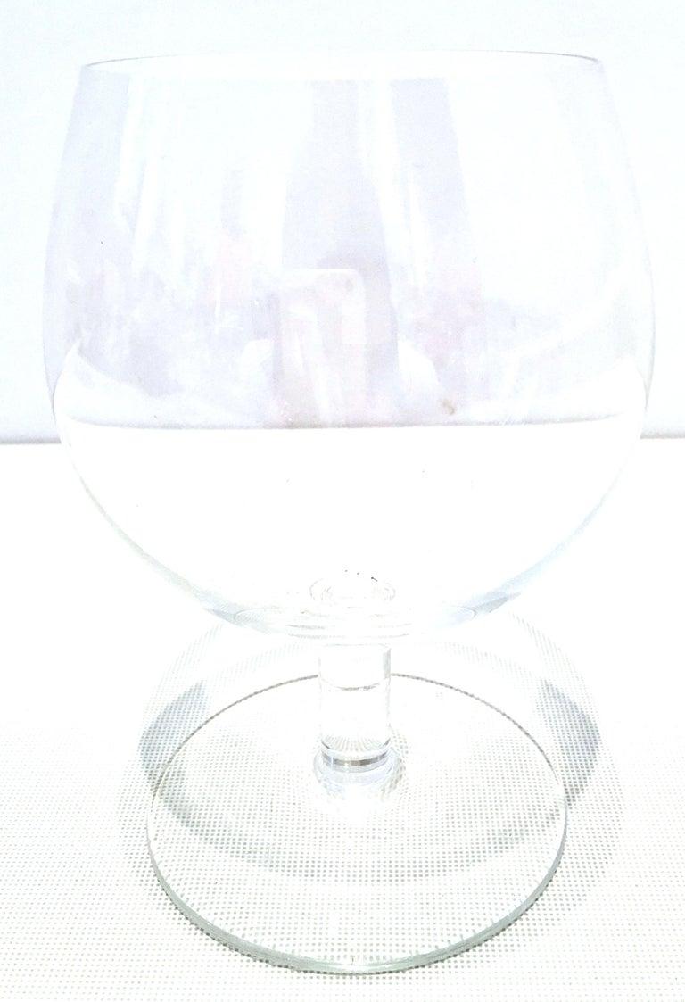 20th Century Tiffany Cut Crystal Liquor Decanter & Stem Drink Glasses, Set of 6 For Sale 8